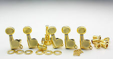 Kluson Round Backs Tuners Mechaniken 6 links Gold