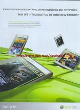 "Giant Apes Grand Adventures But Tiny Price ""Xbox 360"" 2006 Magazine Advert #4718"