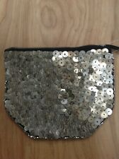Ecote Silver Gold Sequin Beaded Clutch Pouch Makeup Bag From Urban Outfitters