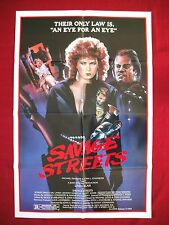 SAVAGE STREETS * 1984 ORIGINAL MOVIE POSTER SEXY LINDA BLAIR BooBS THE EXORCIST