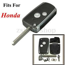 1Pc 2 Button Remote Flip Key Shell For Honda Civic CRV Jazz Accord Odyssey S2000
