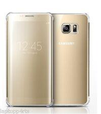 Véritable Samsung Galaxy S7 clear view flip wallet qi sans fil housse gold new