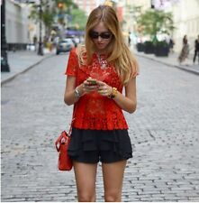 Zara Lace Red Top Size XS