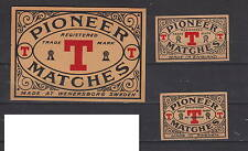 Ancienne étiquette  allumettes Suède AZ5024 Pioneer Royaume Uni