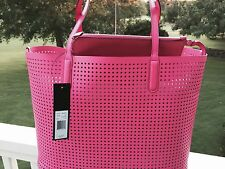 NWT MARC JACOBS Leather Metropolitote Tote Perforated Fuschia Pink $298