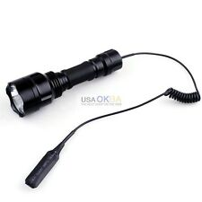 1500lum CREE XM-L T6 LED Light Tactical Flashlight Torch With Pressure Switch