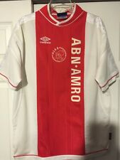 Vintage Rare Ajax Amsterdam ABN-AMRO soccer jersey Umbro Red Sz Xl Extra Large
