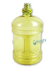 Half Gallon Water Bottle Sports Gym Polycarbonate Yellow Jug Container 64oz New