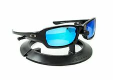 OAKLEY FIVES SQUARED POLISHED BLACK FRAME W/ REVANT ICE BLUE POLARIZED CUSTOM