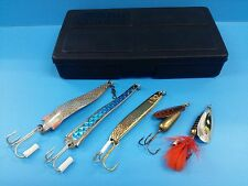 Vintage Abu Garcia 5pcs Spinner Toby Slim Droppen Jungle Lures Set Box Sweden