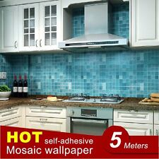 Kitchen Mosaic Wall Sticker Waterproof Aluminum Foil Self-Adhesive Wallpaper NEW