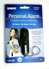 NEW! Sabre Personal Alarm Keychain Black 110 dB Siren Audible Up to 300' PA-01
