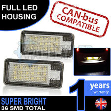 Audi A4 B6 01-05 Complete LED Number Plate Housings Canbus Super Bright