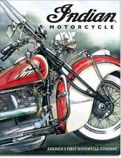 Indian Motorcycle * America's First Motorcycle Company Tin Sign Garage Decor