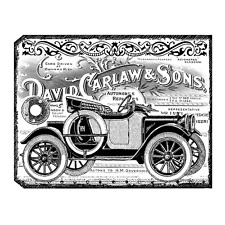 Crafty Individuals CHUNKY VINTAGE CAR TAG Unmounted Red Rubber Stamp CI-405