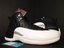 2012 Nike Air Jordan XII 12 Retro PLAYOFF BLACK WHITE COOL GREY RED 130690-001 9