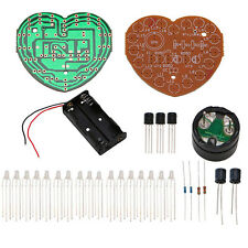 DIY Kit Red Green Dual-Color Heart-Shaped Module LED Music Flash Light Fun Gift