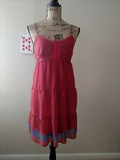 Mossimo Women's Sun Dress Spaghetti Straps Floral Size M Medium Lined Lace