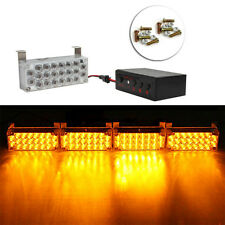 1Set 4*22LED Flash Strobe Light Bar Amber Dash  Warning Lamb 12V