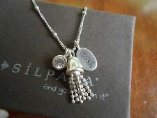 "RETIRED Silpada Sterling Silver & Cubic Zirconia ""Wishful Thinking"" Necklace"