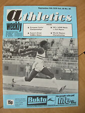 ATHLETICS WEEKLY SEPTEMBER 6th 1975 ASTON MOORE UK TRIPLE JUMP