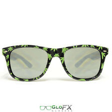 GloFX Pot Leaf Diffraction Glasses- Tinted Kaleidoscope Prism Show 3D Shades New