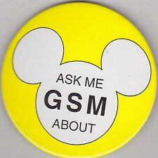 "VINTAGE 3"" PINBACK #35- 108 - DISNEY - MICKEY MOUSE - ASK ME ABOUT GSM"
