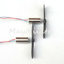 Propeller for RC Toy + 3.7V 48000RPM Electric Aircraft Coreless Motor 2 Pairs LZ