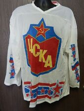 UCKA Soviet Union National Hockey Jersey Gype 10 Red Army Russian USSR Very Rare