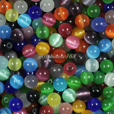 100pcs 6mm Mixed Cat's Eye Round Ball Spacer Loose Beads,approx 10 color!