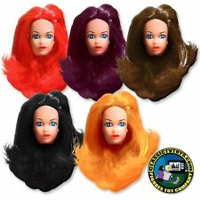 Set of 5 Female Rooted Hair Roto Molded Heads for 8 inch Mego figures