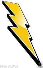 LIGHTENING BOLT (RIGHT) HARD HAT STICKER TOOLBOX STICKER YELLOW