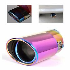 Full Color Universal Chrome Stainless Steel Straight Exhaust Muffler Tip Pipes