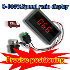 DC 6V 12V 24V 30V Max 8A Digital Display PWM DC Motor Speed Controller Switch