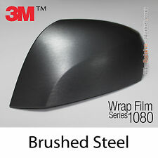 20x30cm FILM Brushed Steel 3M 1080 BR201 Vinyle COVERING  New Series Wrap Film