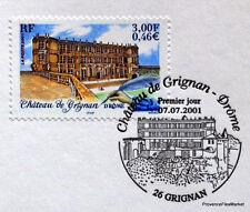 CHATEAU GRIGNAN Yt 3415 OBLITERATION 1er JOUR  NOTICE PHILATELIQUE