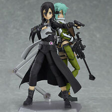 2Pcs Hot Anime Sword Art Online II Sinon & Kirito GGO Ver. PVC Figure Collection