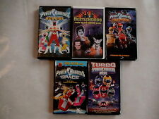 LOT OF 5 VHS POWER RANGERS VIDEO TAPES