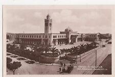 Oran La Gare Vintage RP Postcard North Africa 477a