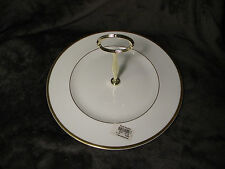 A Beautiful Royal Doulton Carnation One-Tier Cake Stand with Gold Hardware