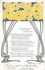 3938) BOLOGNA 1901 IL CARRO ARRIVA PRIMAVERA SALUTA I BOLOGNESI ILL. BONFIGLIOLI