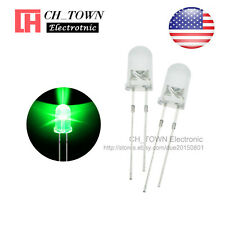 100pcs 5mm Water Clear Self Green Light Blink Blinking Flash LED Diodes Lamp USA