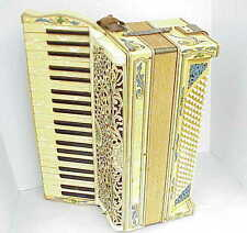 Antique Trick Bros Toledo Oh Ohio Accordian w Rhinestones. NICE