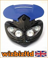 Street Fighter Motorbike Rage Universal fairing Headlight with Brackets HLURAGBU