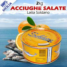 ACCIUGHE SALATE LATTE DA KG 2 ALICI SOLDANO PRIMA SCELTA