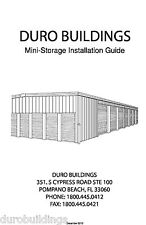 Duro Steel Self Storage Prefab DIY Metal Building Construction Mailer Manual CD