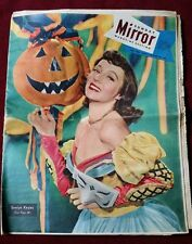 1948 Sunday Mirror magazine section Evelyn Keyes + Navy fleet + color ads