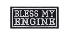 ' Bless my Engine ' Biker Heavy Rocker Patch Aufnäher Kutte Motorrad Badge Bild