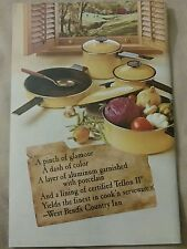 Vintage 1969 Country Inn Cookware West Bend Cookbook Beautiful Like NEW