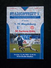Orig.PRG   Regionalliga Nord  2001/02  1.FC MAGDEBURG - SC FORTUNA KÖLN  !!